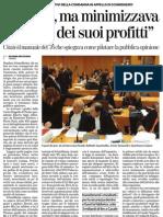 3.9.2013 La Stampa Mossano Sapeva Ma Minimizzava