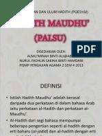 Hadith Maudhu / Hadith Palsu