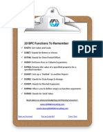 10 Bpc Functions to Remember