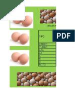 Lista Precios Huevos