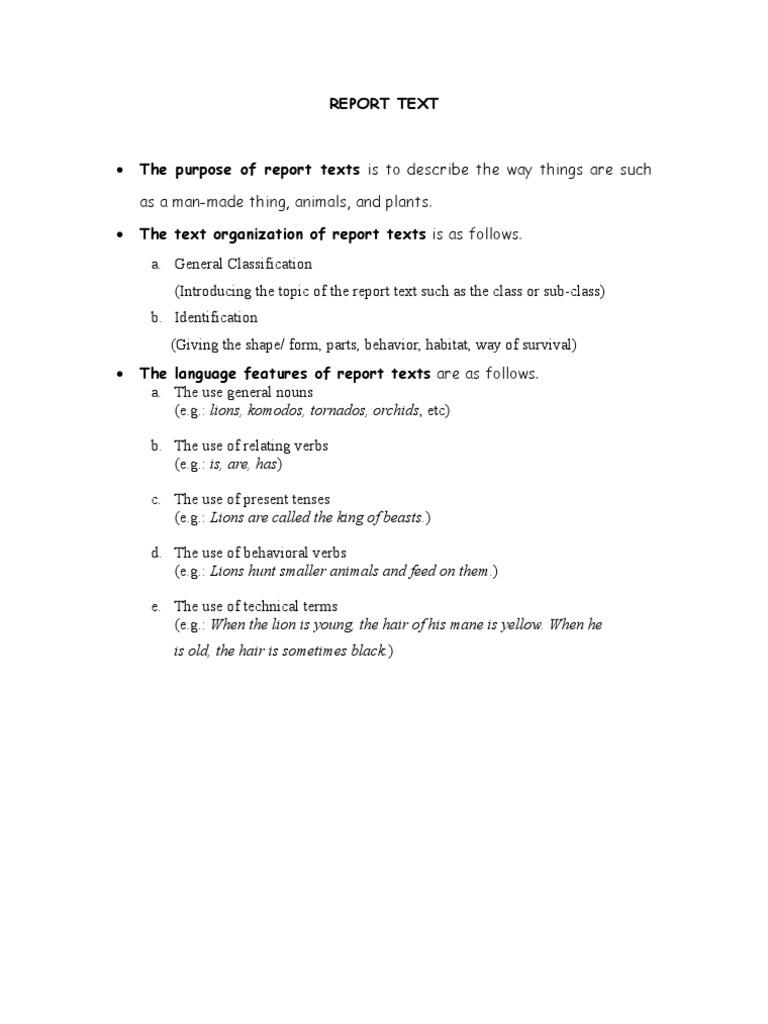 Uncategorized Report Text Animals report text
