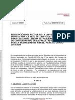 Lectorado Universidad de Murcia 2013-2014