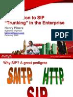 Avaya - SIP Trunking in the Enterprise