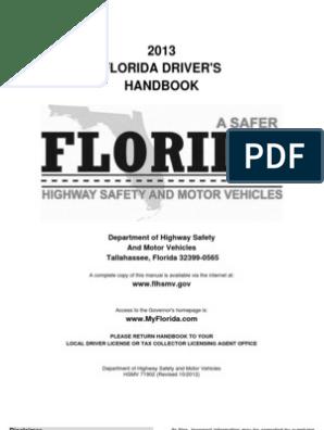 Florida Drivers Handbook >> English Driver Handbook For Florida Driver License