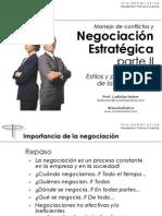 Manejo de Conflictos y Negociacion Estrategica II