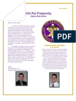 Chi Psi Alumni Newsletter September 2013