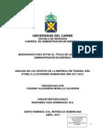 Informe de Monografia de Los Aportes de Pib Trading, Eirl, A La Economia Nacional