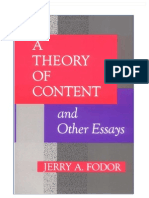 Fodor - A Theory of Content