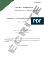 BAC Sciences Et Techniques Sanitaires Et Sociales Ecrit 2009 ST2S