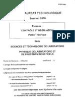 BAC Controle-Et-regulation 2009 Stl Physique