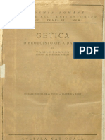 Vasile Pârvan, Getica. O protoistorie a Daciei