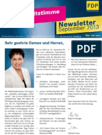 FDP BW Newsletter 09/2013