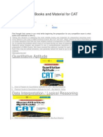 Most Reliable Books and Material for CAT Preparation