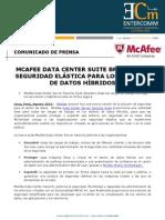 NP McAfee -McAfee data center suite brinda una seguridad elástica para los centros de datos híbridos