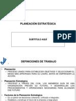 PLAES - Planeación Estratégica -