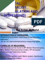Hospital Pharmacist (Formulation and Dispensing)