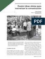 Cuatro ideas obvias para democratizar la comunicación Kaplun