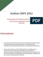 Análisis CNPV 2012 Versión Resumida 040913