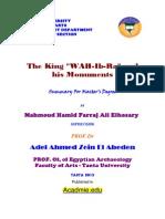 "Mahmoud Hamid Farraj Ali Elhosary ""The King ""WAH-Ib-Ra"" (Apries) and his Monuments"" Summary For Master's Degree, Acadmie.edu, (2013)."