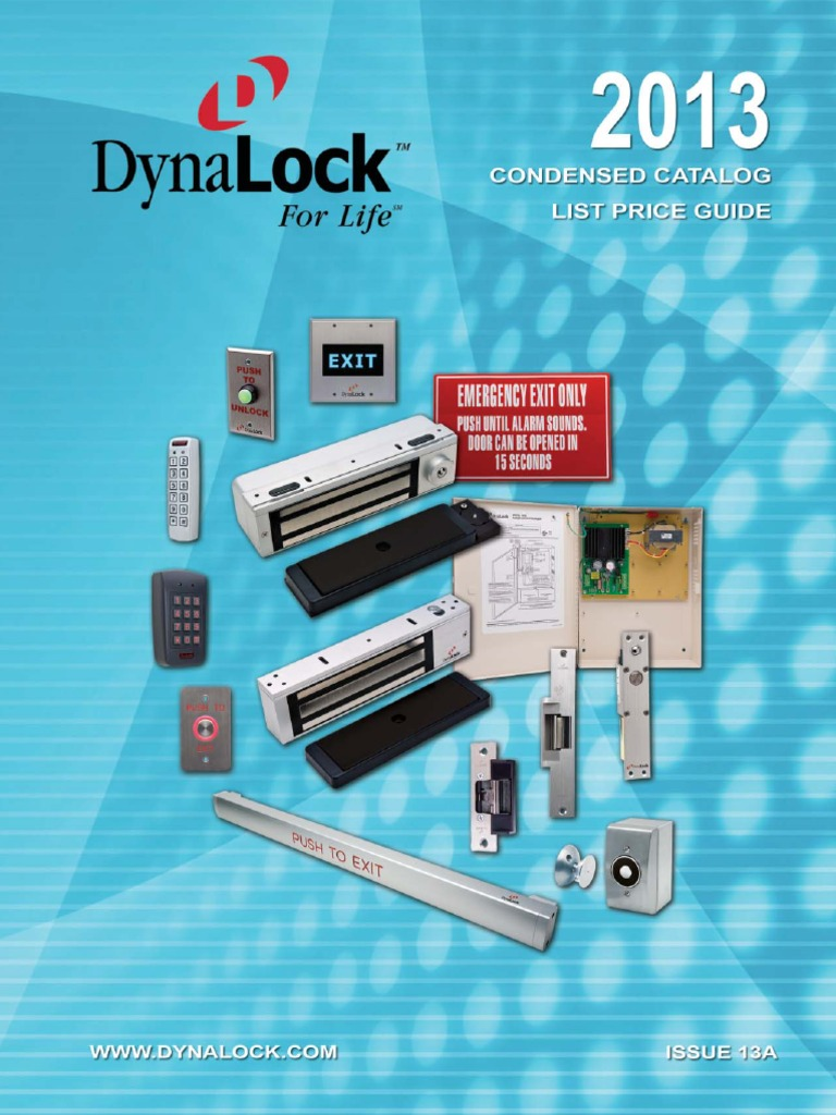 Dynalock Price Book 2013 Components Engineering Bea Maglock Wiring Diagram