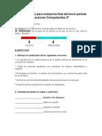 2º. LEC. COMP. Taller de repaso para evaluación final del tercer período