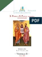 Livro de Horas S. Pedro e S. Paulo (Vésperas II)
