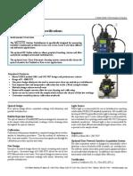 Especificações do Turbidímetro MicroTOL