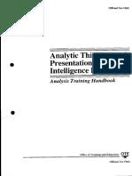 CIA - Analytic Thinking and Presentation for Intelligence - Analysis Training Handbook