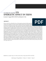 Stress and Itsenergetic Effect in Teens