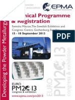 Euro PM2013 Technical Programme-20 May s