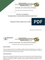 PROYECTO Utilización y Elaboración de material didáctico.