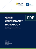 GGI HQIP Good Governance Handbook Jan 2012