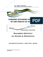 REGLAMENTO ESPECIFICO PRESUPUESTOS 08 02 2012