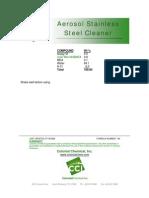 Aerosol Stainless Steel Cleaner - 144