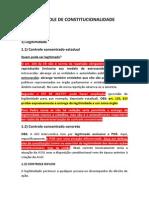 Controle de Constitucionalidade (Reta Final)