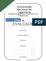 HOJA DE EVALUACIÓN E INSTRUCCIONES