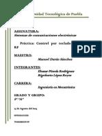 Reporte Practica 9. TECLADO RF
