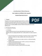 Open Feedlot on-Site Inspection, Standard Operating Procedure
