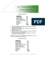 Air Freshener Gel Formulations - 233