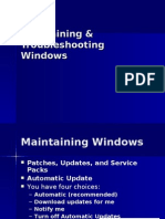 15 Maintaining & Troubleshooting Windows