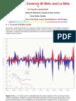 Solar Activity Controls El Nino And La Nina