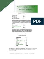 Air Freshener Gel Formulations -084