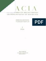 Revista DACIA nr. 1 - 1924 prima parte