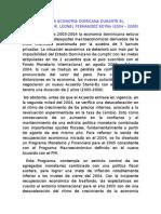 Evolucion de La Economia Domicana Durante El Gobierno Del Dr
