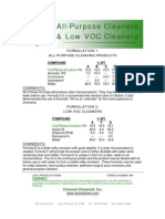 All Purpose Cleaners and Low VOC Cleaners - 089
