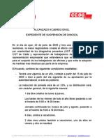 Acuerdo Alcanzado Con DINOSOL Reduccion de Jornada