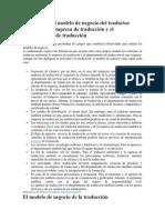 Diferencias del modelo de negocio del traductor autónomo