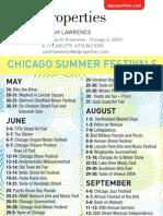 2009 Chicago Summer Festivals
