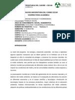 PLAN DE AULA 2013-I Ecología y desarrollo sostenible