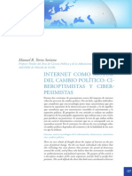 Internet Como Motor de Cambio Ciberoptimistas Versus Ciberpesimistas